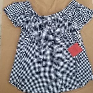 Mossimo Gingham Off Shoulder Top